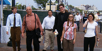 Dan Steffenson (second from left) with Albion students at the 2007 ACS Conference in New Orleans.