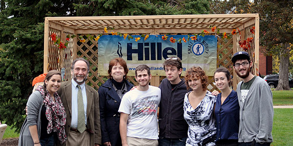 Hillel's Sukkot on the Quad.