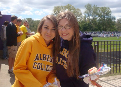 Ali and Haley Hill, while Ali was a high school senior.
