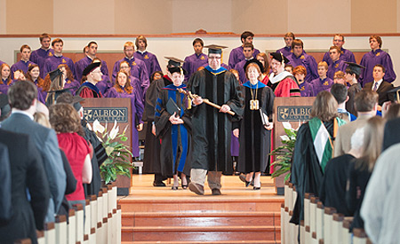 Faculty and staff at Honors Convocation