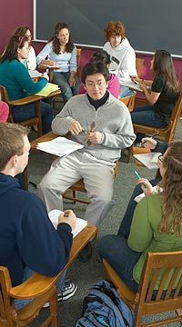 Students-in-discussion-groups