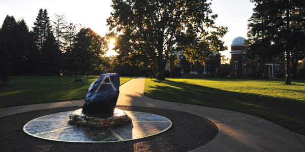 The Rock on the Albion College Quad.