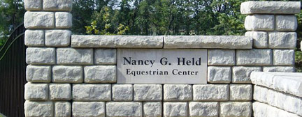 The front gate of the Nancy G. Held Equestrian Center.