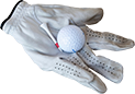 Golf gloves.