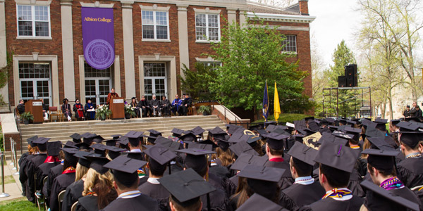 The Class of 2014 settles into the Commencement ceremony on May 10.