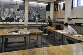 Drawing studio in Albion College's Bobbitt Visual Arts Center