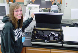 Research opportunities abound for Albion College chemistry students.