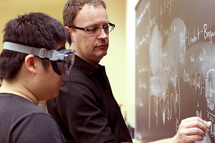 Students work closely with their professors in Albion College's chemistry program.