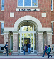 Ferguson Hall, home of Albion College's Career and Internship Center.