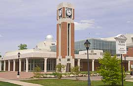 Stoffer Clocktower, Norris Center, Albion College Science Complex