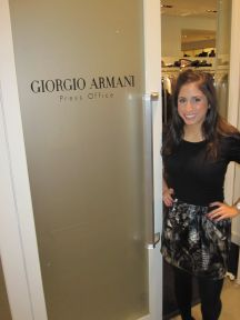 Katie Shaheen, '11, interned at Armani in London.