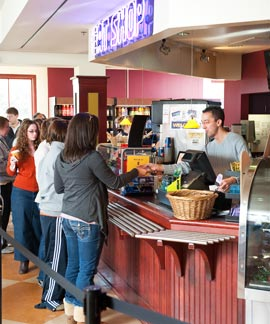 Eat Shop Cafe in the Kellogg Center