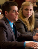 Thomas Worden and Heather Waldron of Albion College's 2011 Fed Challenge team.