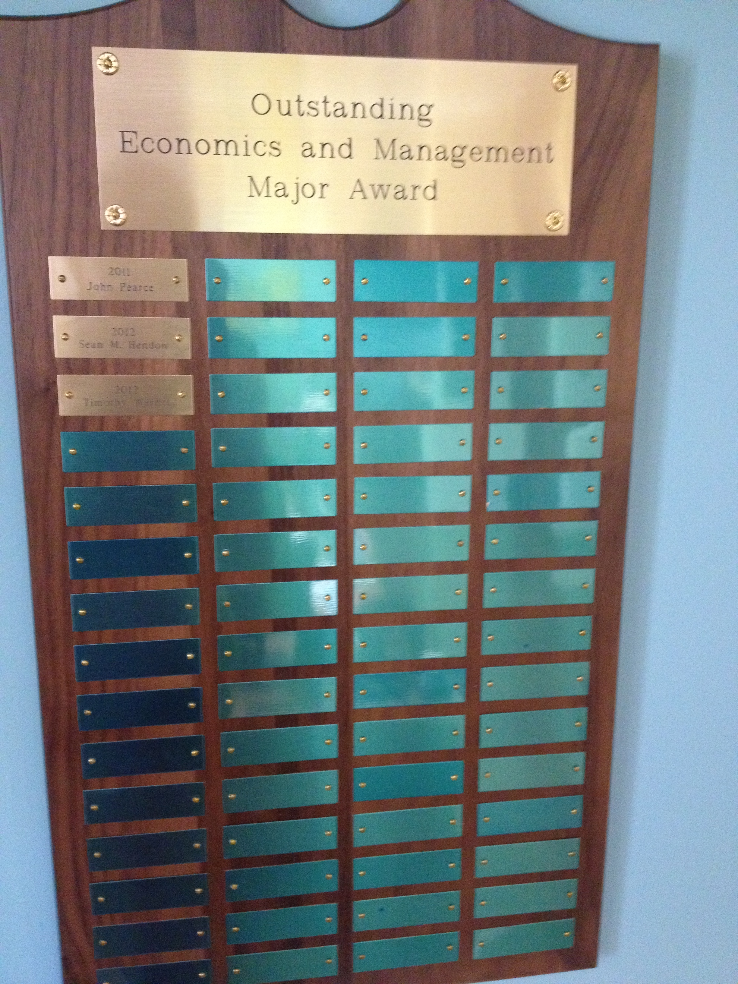 Economics and Management Outstanding Major