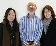 With department chair Yuhyung Shin and my teaching assistant Soo Yeon Kang