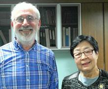 Saltzman and KAEC executive director Jai Ok Shim