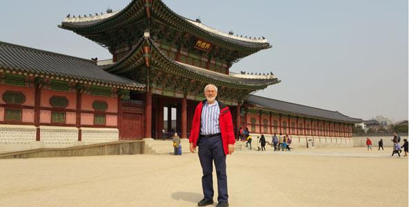 Greg Saltzman at Gyeongbokgung Palace
