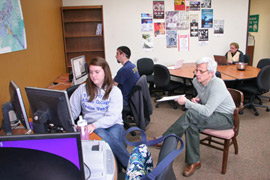 The Learning Cafe in Albion College's Ferguson Center for Technology-Aided Teaching and Learning