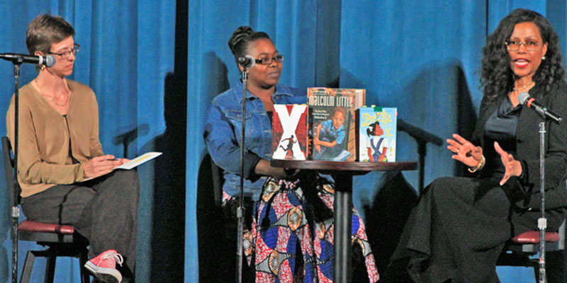 Jess Roberts, Keena Williams, and Ilyasah Shabazz at the Bohm Theatre