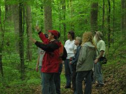 Foresters explain how the Tuuk's private property is managed to provide habitat and sustainable income from the land.