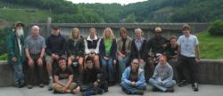 The group posed at Norris Dam, the first big TVA project