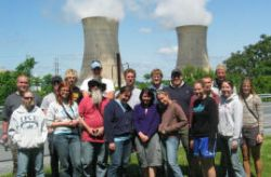 A group photo at Three Mile Island.  Though not presently an issue in the watershed, historically the nuclear accident here led to a halt in construction of new nuclear power plants in the U.S. for many years