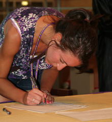 Matriculation takes place during Fall Orientation each August at Albion College.