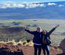 Andrew Sowa and Kym Strozier-Ball on Mauna Kea