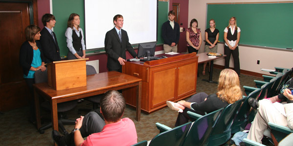 Ford Institute students give a presentation.