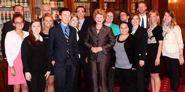Ford Institute seniors visited with Michigan Senator Debbie Stabenow during their D.C. trip.