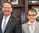 Nick Panourgias (right) with U.S. Senator Gary Peters of Michigan.