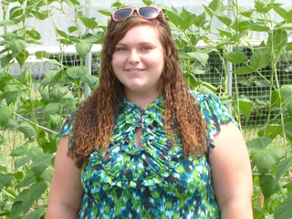 Caitlyn Allen, as an intern for the South Lansing Community Development Association.