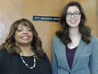 Danielle with Sheryl Mitchell the City Manager for Albion.