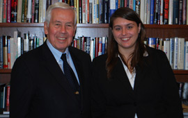 Christin Spoolstra, '11, worked as an intern in Washington for U.S. Senator Richard Lugar of Indiana.
