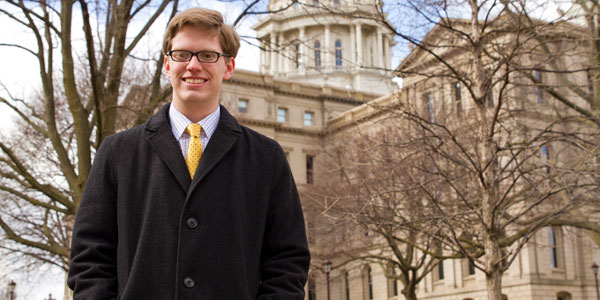 Nathaniel Love, '13, graduated with a degree in public policy and a concentration in the Ford Institute.