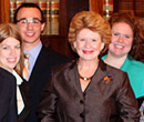 Michigan Senator Debbie Stabenow with Ford Institute students in Washington, D.C., April 2013.