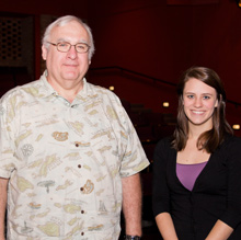 Callie Bussell, '14, with Prof. Robert Starko