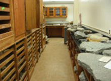 Albion College Geology Department rock storage