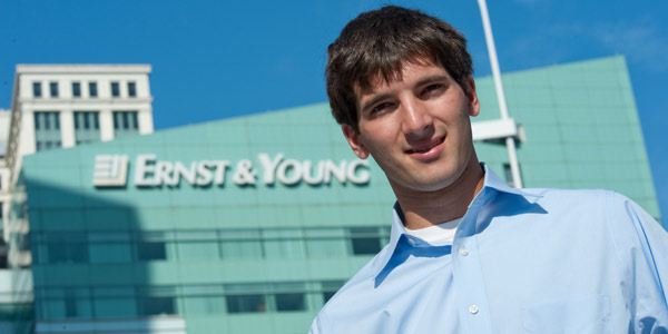 Aaron Croad, '12, interned at Ernst & Young in Detroit.