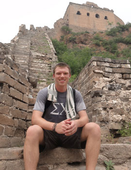 Pat McCombs gained experience during a summer 2010 internship in Shanghai, China.