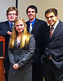 Members of Albion College's 2011 Fed Challenge team that reached the national finals.