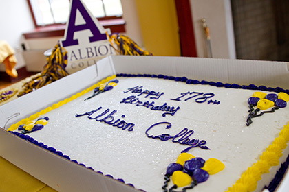 Founders' Day Cake - Happy Birthday Albion College