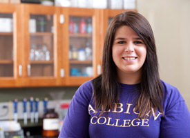 Albion College student Katie Pickworth, '13
