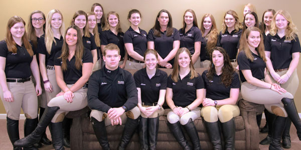 The 2015-2016 Hunt Seat Team.
