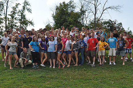 Honors Program August retreat group