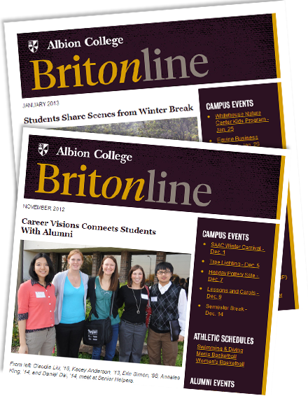 Subscribe to Albion's e-mail newsletter, Britonline