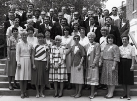 Members of Albion College's Class of 1961 during their 25-year reunion in 1986.