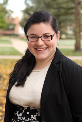 Albion College student Dannie Lynn Fountain, '14
