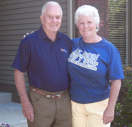 Albion College alumnus Jerry Gervais, '52, with his wife, Kay