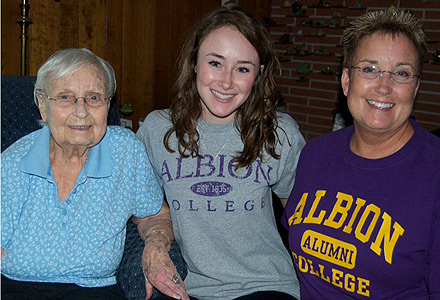 Helen Adler, '41; Holly Pyper, '16; Lee Pyper, '81